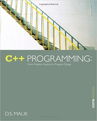 Book C++ Programming: From Problem Analysis to Program Design by D. S. Malik (2012-02-24)