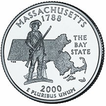 2000 D Massachusetts State Quarter Choice Uncirculated