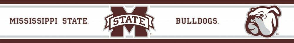NCAA Mississippi State Self-Stick Wall Border - Bulldogs Decor Accent