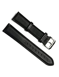 Green Olive 22mm Handmade Vintage Replacement Leather Watch Strap/Watch Band (Oil Wax Leather/Black)