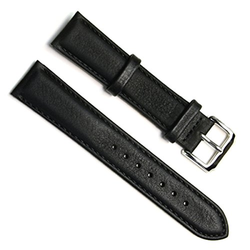 18mm Handmade Vintage Cowhide Leather Watch Strap/Watch Band (Black)
