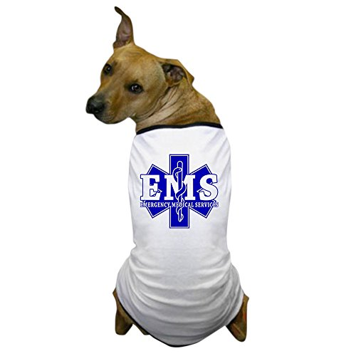 CafePress - Star Of Life - Blue EMS Word - Dog T-Shirt, Pet Clothing, Funny Dog Costume (Funny Emergency Services Costumes)