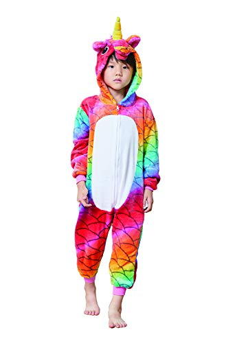 - Comfy New Scale Animal Pajamas Unicorn Costume Cosplay Costume One Piece Birthday Gift 8-10 Years