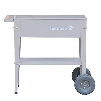 Herstera 08928401 Hochbeet Barcelona Taupe 35 X 75 X 80 Cm Amazon