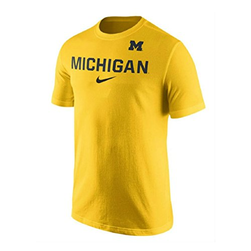 Michigan Wolverines NCAA College Cotton Short Sleeve Logo Practice Yellow Extra (Jordan Apparel)