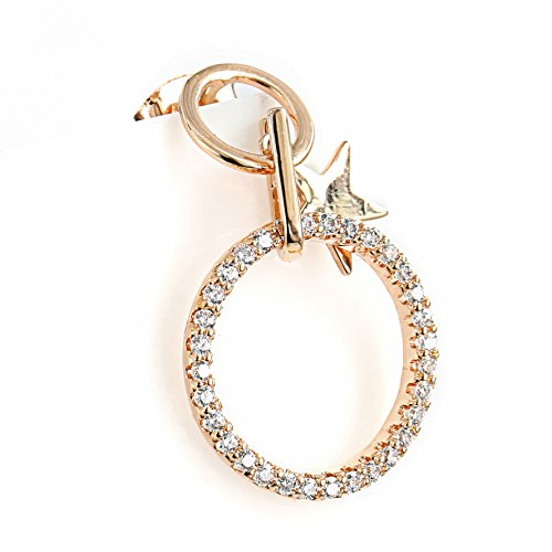 ique Rose Gold Tone Designer Drop Earrings with a Delicate Dangling Star Charm and Swarovski Style Crystals (Rose Star) ()