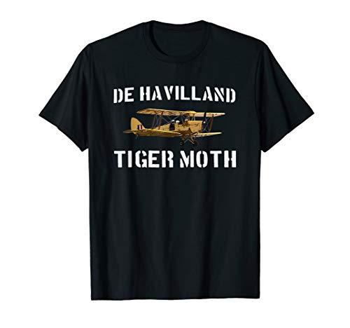 DH.82 Tiger Moth Biplane WWII Plane T shirt Gift T-Shirt