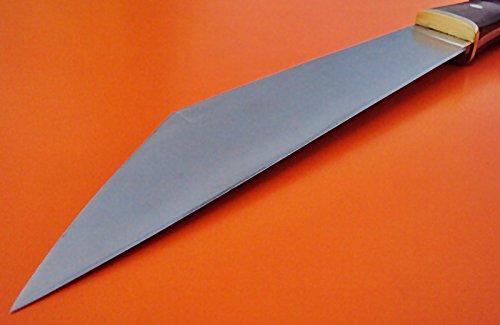 Poshland Knives REG-HKJ 310 - Custom Handmade High Carbon Steel SEAX Knife - Stunning Rose Wood Handle