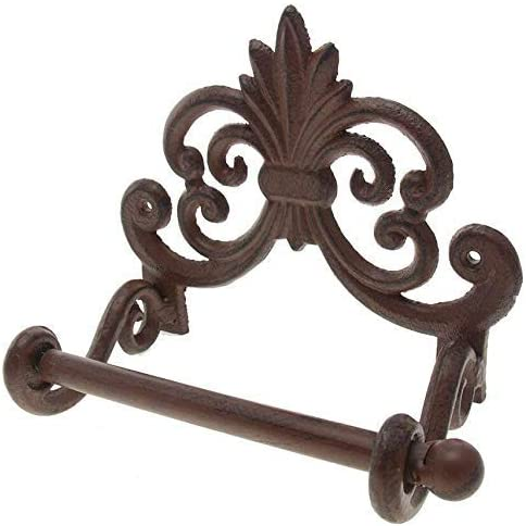 Fleur de Lis Wall Mounted Hand Towel Holder with Ring