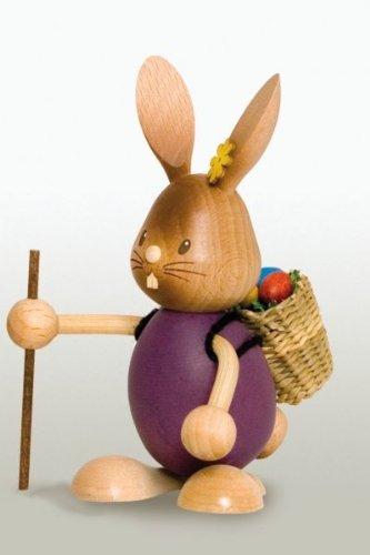 Easter Bunny Rabbit Hiker German Wooden Figurine