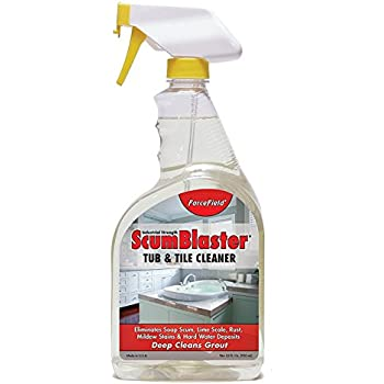 Forcefield scumblaster tub and tile cleaner industrial strength ready to use deep for Cleanwell botanical disinfectant bathroom cleaner