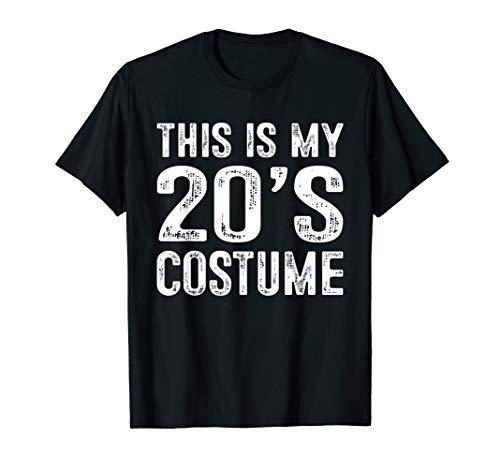 This is my 20's Costume T-Shirt 1920s Halloween Costume Gift ()