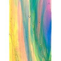 Kokomo -Multi Color Streaky - Stained Glass Sheet - 8 X 12 (.67sf) by Kokomo Stained Glass