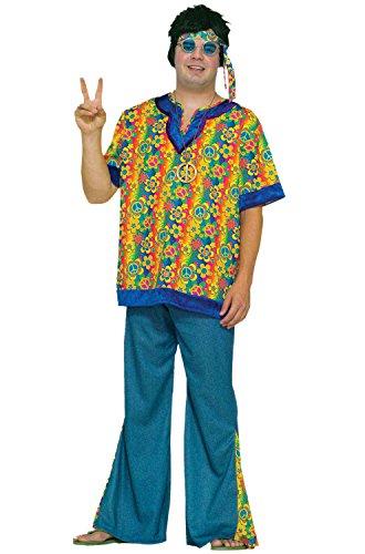 Forum Novelties Men's Hippie Dude Costume, Multi, Plus