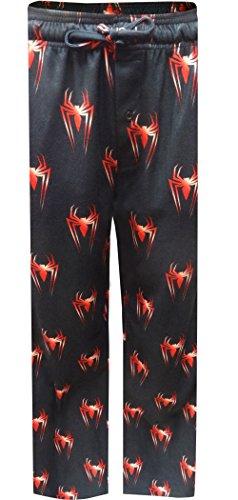 Marvel Comics Spiderman Modern Flannel Lounge Pants For Men (Small) (Flannel Man Spider)