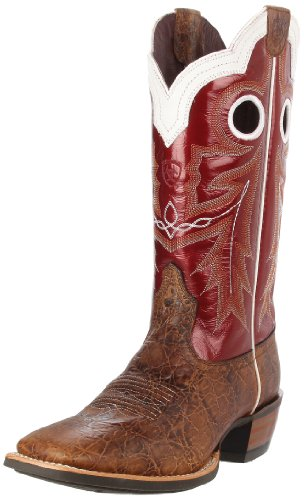 - Ariat Men's Wildstock Western Cowboy Boot, Adobe Clay/ Red Light, 9.5 2E US
