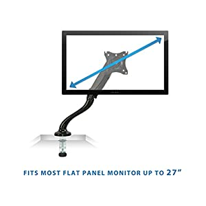 Mount-It! Monitor Arm, Gas Spring Single Monitor Desk Mount, Fits Up To 27 Inch, VESA Caompatible, 13.2 Lb Capacity