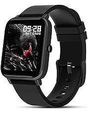 Fullmosa Smartwatch met hartslagmeting, sporthorloge 7 sportmodi met hartslagmeter voor dames en heren, IP67waterdicht, GPS, fitnesshorloge met activiteitstracker voor iPhone en Android