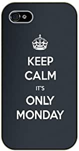 iPhone 5C Keep calm it's only Monday - black plastic case / Keep calm, work