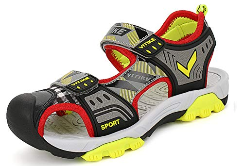 - Littleplum Boys Girls Outdoor Sport Closed-Toe Sandals Kids Breathable Mesh Water Athletic Sandals Shoes