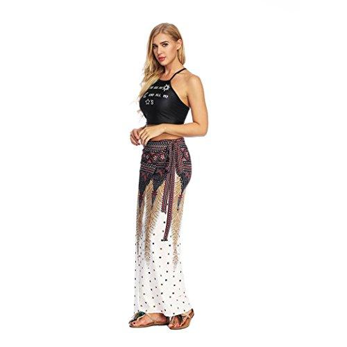 Pantalons Blanc Femme Les Boheme Femmes Harem Aladdin Casual Noire Jupe Longue t LaChe Ete Fathoit Baggy Boho Jupe Yoga t7FUqU