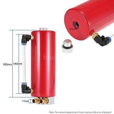 FidgetFidget Billet Aluminium Racing Engine Oil Catch Tank Can Reservoir Red Universal by FidgetFidget (Image #6)