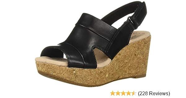 6516f287e Amazon.com | CLARKS Women's Annadel Ivory Wedge Sandal | Shoes