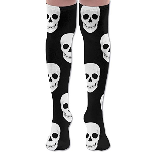 - LOIOI67 Halloween Holiday Skull Youth Soccer Socks Teens Knee High Football Socks Long Striped Rugby Tube Socks