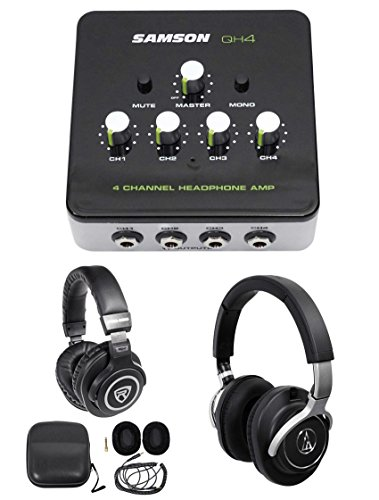 Audio Technica ATH-M70x Pro Monitor Headphones ATHM70x+Amplifier+Free Headphones by Audio-Technica