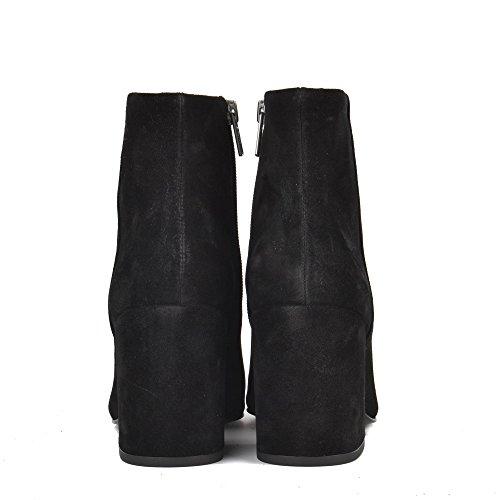 Ash Zapatos Eden Botines de Ante Negro Negro