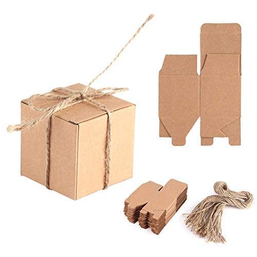 - Box Measures 12 x 12 x 9cm Holidays Parties 50 Pack - Easy Assemble Presentation Favour Present Box Belle Vous Brown Kraft Gift Boxes 4.72 x 4.72 x 3.54 inches Weddings Birthdays