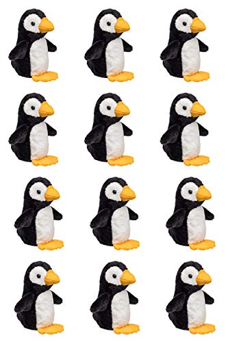 "(Wildlife Tree 12 Pack Penguin Mini 4"" Small Stuffed Animals, Bulk Bundle Zoo Animal Toys, Arctic Party Favors for)"