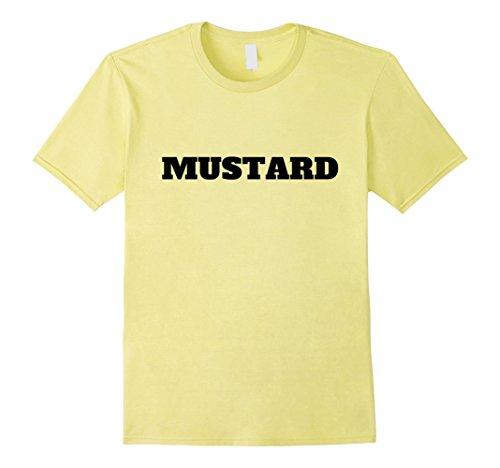 Halloween Mustard Costume (Mens Lazy Halloween Mustard Costume Funny T-Shirt 2XL Lemon)