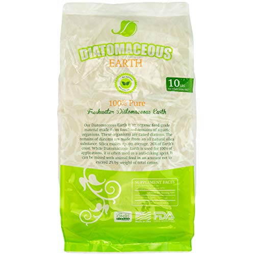 Absorbent Industries AI-10066 Diatomaceous Earth Food Grade, 10 lb, Wh, White (Food Grade Fossil Shell Flour Diatomaceous Earth)