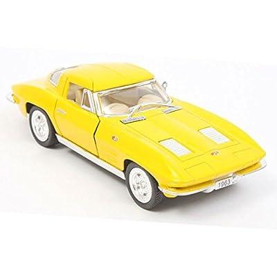 Chevy 1963 Corvette Stingray 1:36 Scale (Yellow): Toys & Games