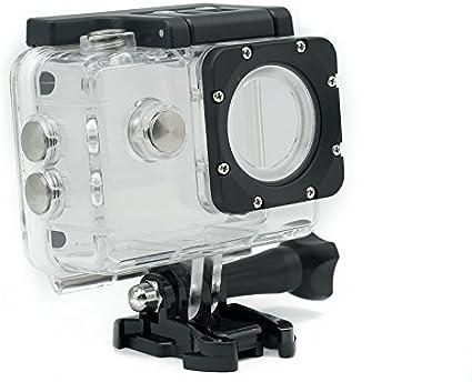 QUMOX Carcasa Original 2da versión Resistente Agua para Cámara Deportiva SJ4000 WiFi SJ-4000 Cámara FHD 1080p 720p: Amazon.es: Electrónica