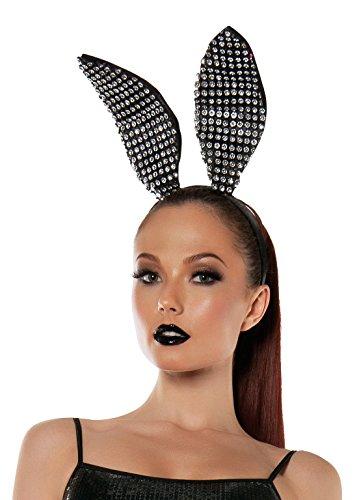 (Starline Women's Sparkle Bunny Ears Headband Accessory, Black, One Size)