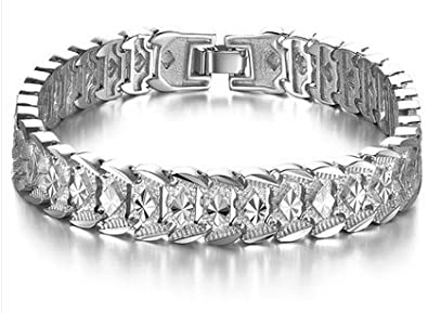 Anvi Jewellers 925 Silver And Rodhium Plated Mens Bracelet At