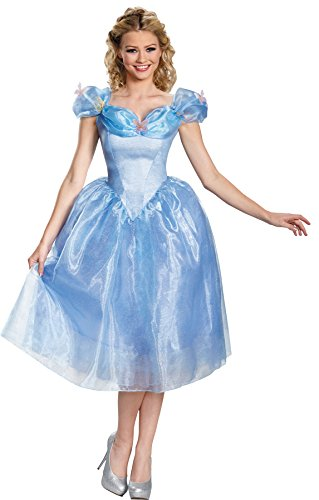 UHC Disney Cinderella Movie Deluxe Outfit Womens Fancy Dress Halloween Costume, Plus (18-20) (Mascot Costume Disney)