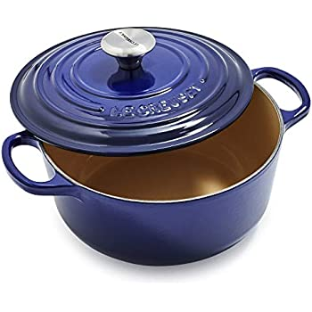 Le Creuset Dutch Oven - Signature Enameled Cast Iron - 2.75-quart Round - Indigo Blue