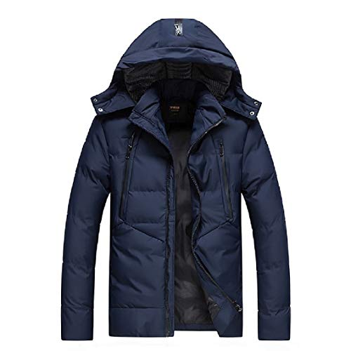 Md 1 Puffer Hoodie Thickening Men's Stylish Jacket Long Down Energy Solid ABwOqc