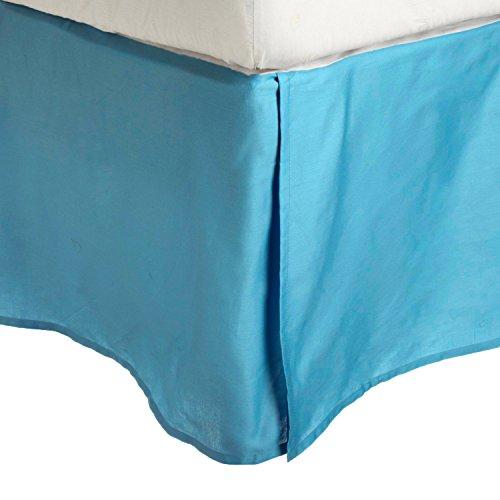 100-brushed-microfiber-bed-skirt-queen-aqua-wrinkle-resistant-pleated-corners