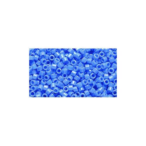 Miyuki Delica Seed Bead 11/0 DB167, Opaque Light Sapphire Aurora Borealis Finish, 9-Gram/Pack