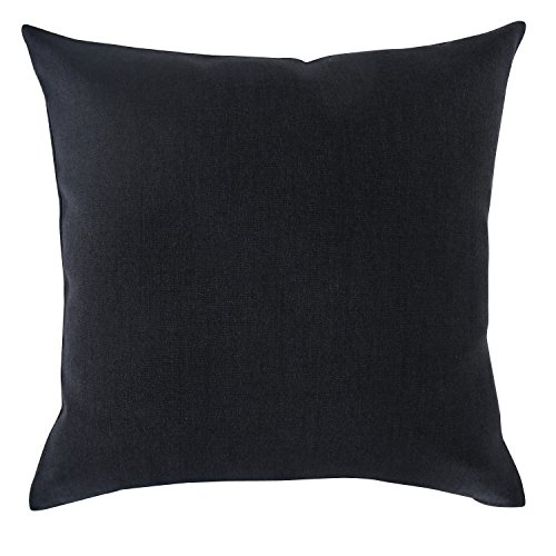 Deconovo Faux Linen Woven Fine Soft Home Decorative Hand Made Pillow Case Cushion Cover 18×18 Black