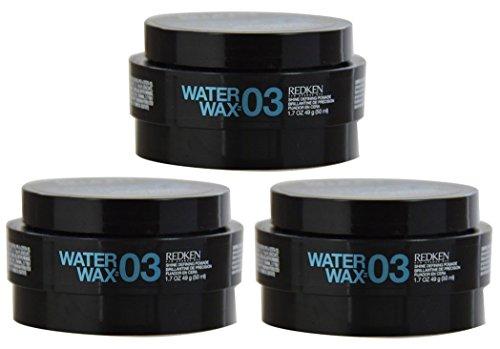 Water Wax Shine Defining Pomade (Redken Water Wax 03 Shine Defining Pomade (1.7 oz) - 3 Pack)