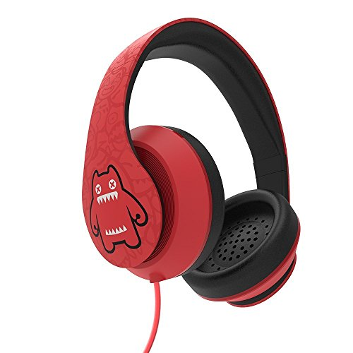 Zombiescat Cool Big Over Ear Headphones with Microphone Super cool Stereo Lightweight Stereo Adjustable and Volume Control for Travel, Work, Sport for iPhone and Android Devices(Red)
