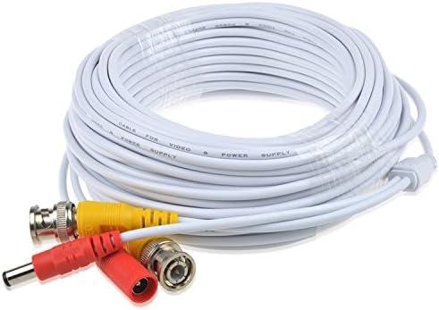 SLLEA 65ft White BNC Cable Cord Lead Compatible with Night Owl HD Camera CM-AHD10W-BU-SGS C2 CM-AHD10W-BU-TU