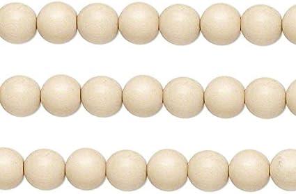 Wood Round Beads Natural 6mm 16 Inch Strand
