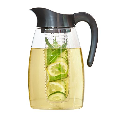 The Republic Of Tea Double Infusion Gourmet Iced Tea Pitcher, BPA-Free, 3 Pitcher Inserts Included
