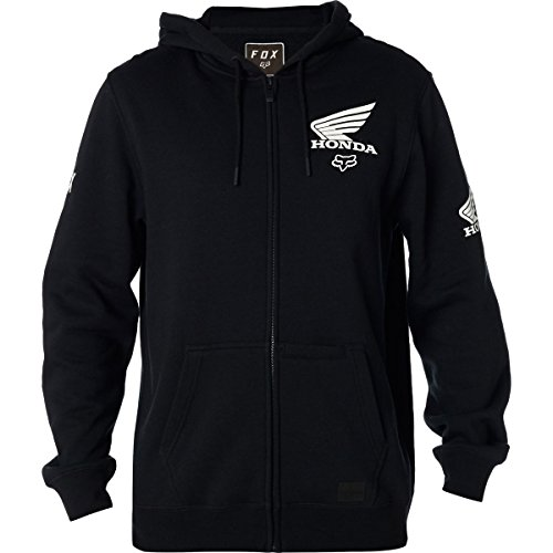 Hoody Sweatshirt Honda (Fox Racing Honda Zip Hoody-Black-XL)
